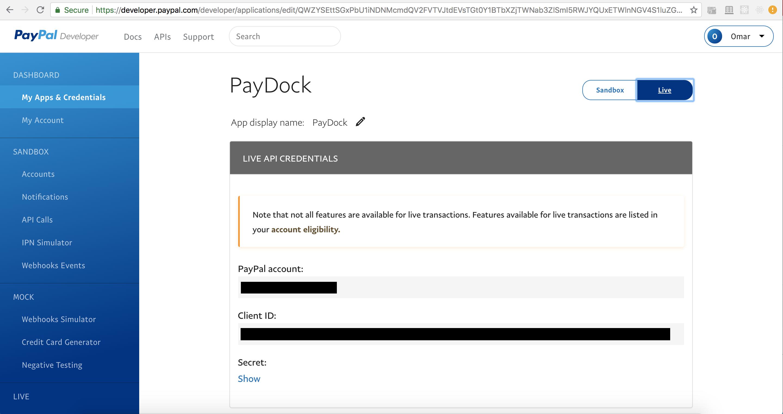 PayPal + PayDock | PayDock Help Center